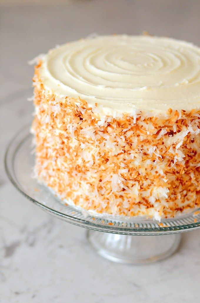 The most deliciously moist coconut cake with a pineapple filling - perfect for Easter dinner.