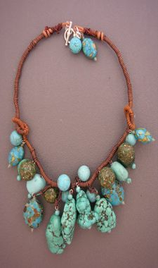 Turquoise chunks - nice statement piece by Dorje Designs