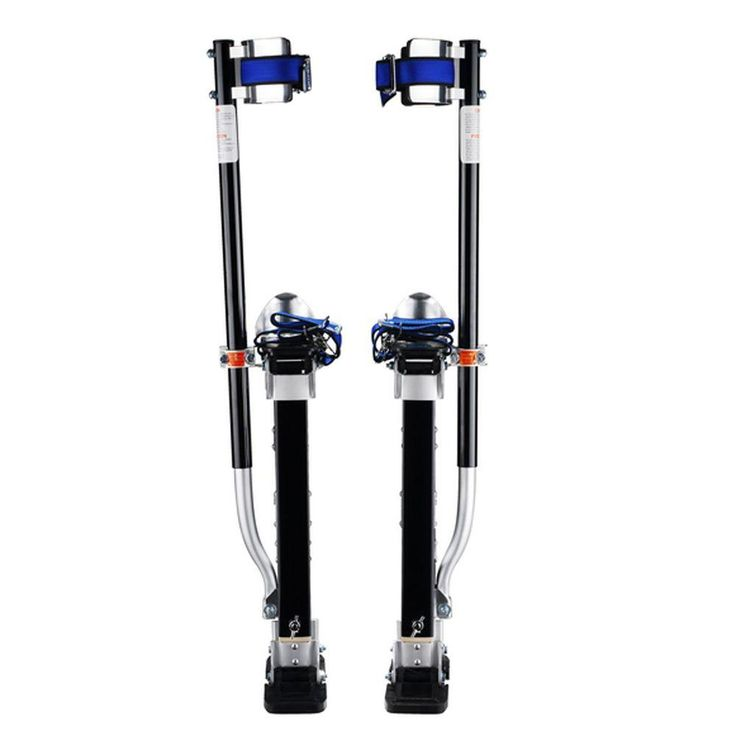 Pentagon Tool 18 in. to 30 in. Adjustable Height Black Drywall Stilts