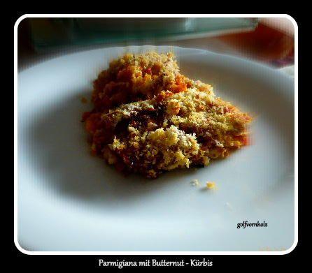Das perfekte Parmigiana mit Butternut-Kürbis-Rezept mit einfacher Schritt-für-Schritt-Anleitung: Den Kürbis schälen und quer das untere Drittel…
