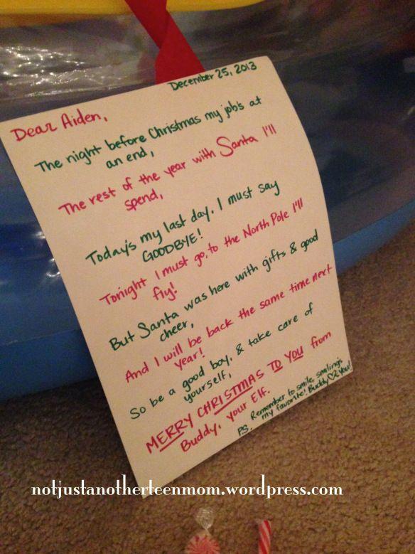 elf on the shelf goodbye letter ideas