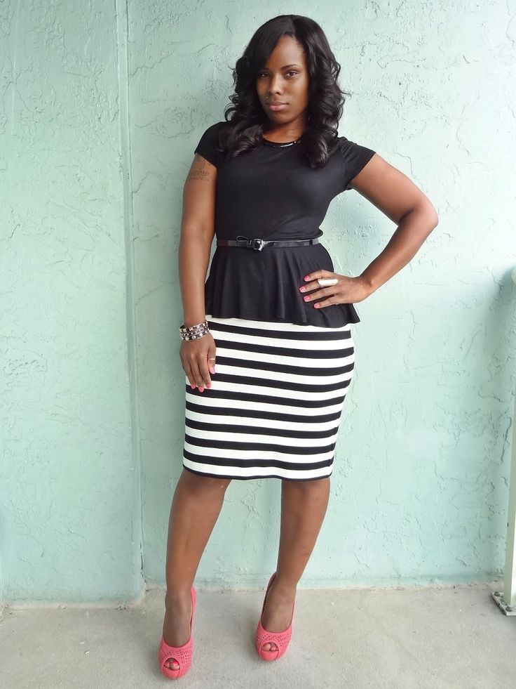 19 best Peplum Top w/Pencil Skirt Outfits images on ...