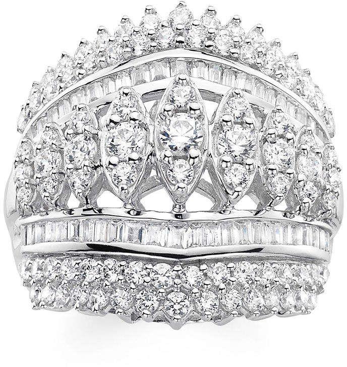 2 Ct T W Diamond 10k White Gold Ring White Gold Rings