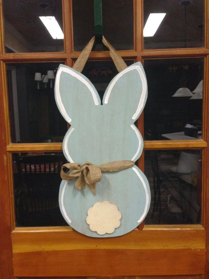 Build-A-Cross, Unfinished, Finished Wooden Letters, Crosses: Bunny Door Hanger
