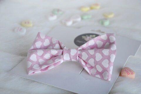 Valentines Bow ~ Baby Hair Bows ~ Baby Bow ~ Nylon Band Valentines Day Bow ~ Holiday Headband ~ Newborn Bow Set ~ Hair Accessory ~Valentine