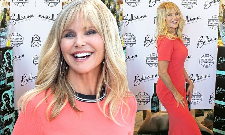 The 63-year-old model showed her timeless beauty Wednesday while promoting her new prosecco brand in Los Angeles.