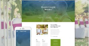 Happy Couple is a nice and well-coded Wedding Website Template. Its soft color scheme and easy on the eyes visuals make the page such a pleasure to navigate.
