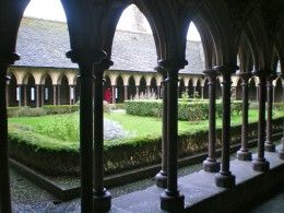 The cloister of Mont Sant-Michel