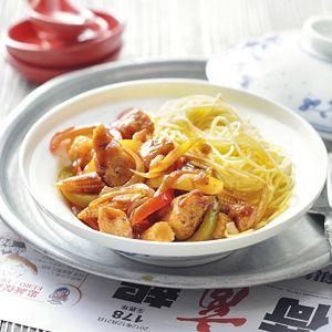 Recept - Kip met paprika en chilipeper - Allerhande