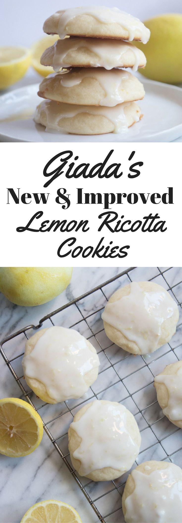 Giada De Laurentiis' famous, best-ever lemon ricotta cookies somehow got even better! - Giadzy