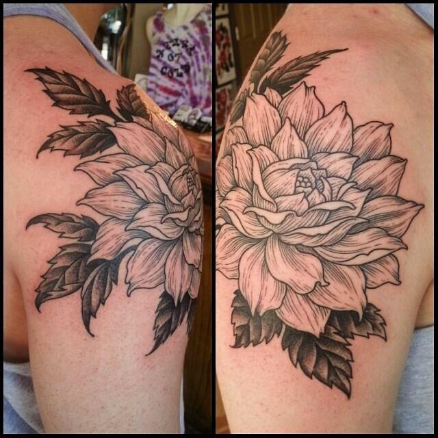 My dahlia tattoo craig secrist heart of gold tattoo ut for Heart of gold tattoo