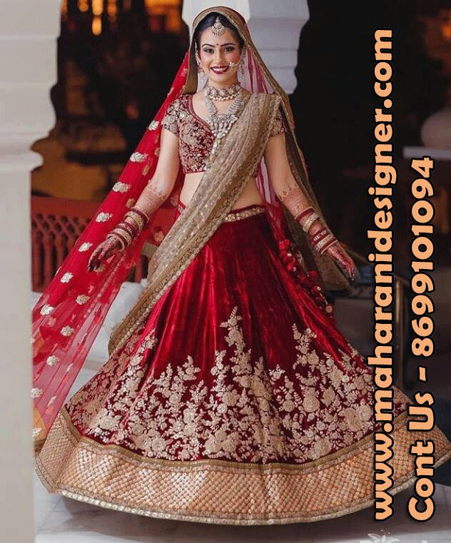 #DesignerHeavyBridalLehengaOnline #LatestLehengaOnline #PartyWearlehengaOnline #IndianweddingLehengaOnline Maharani Designer Boutique  To buy it click on this link http://maharanidesigner.com/Anarkali-Dresses-Online/lehenga-online/ Rs - 31000 Hand work  Fabric- Velvet Double Dupatta Available in All Colors Fine Quality fabric  For any more information contact on WhatsApp or call 8699101094 Website www.maharanidesigner.com