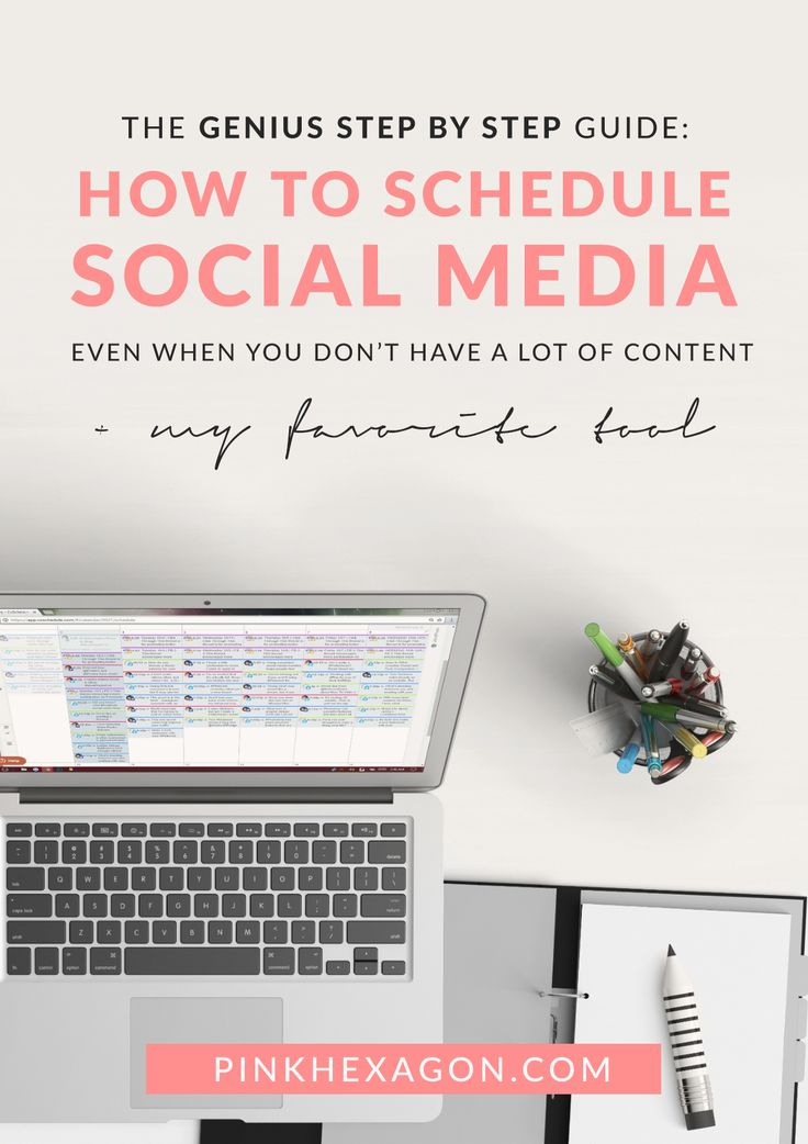 Genius Way to Schedule Social Media When You Have Little Content | The Blog Dept. - https://pinkhexagon.com/genius-way-to-schedule-social-media-when-you-have-little-content/