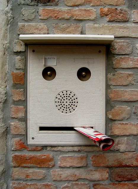Post box in Venice, Italy by reetcomic on Flickr.