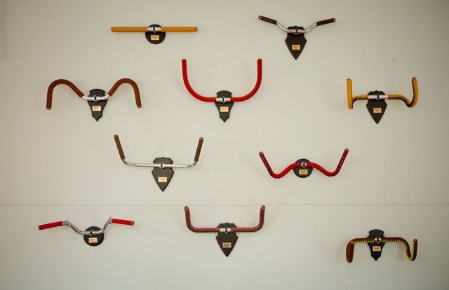 Beautiful leather handle bar grips to replace dead animal heads in your stately home.