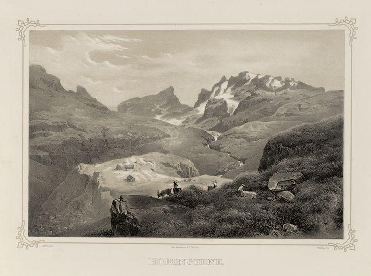 Norge fremstillet i Tegninger - Hans Gude - Horungerne. jpg (4896×3640)