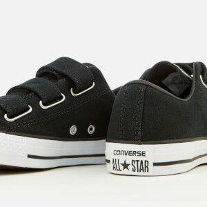 8b3c25f5084b Converse Chuck Taylor All Star 3V Ox Trainers - Black White  Image 4 ...