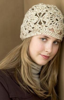 Free crochet flower hat pattern ~ I might make this for myself...very pretty.