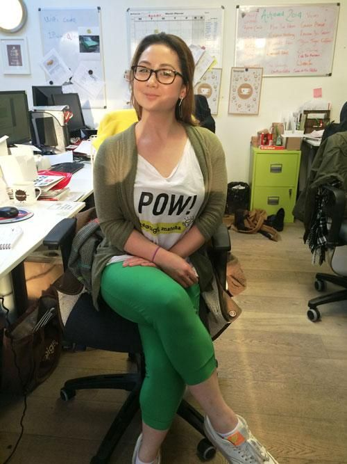 its teapigs green day today, and how lovely does our Amy look! #prettyingreen