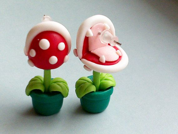 A Pair Cute Unique super Mario Piranha Plant