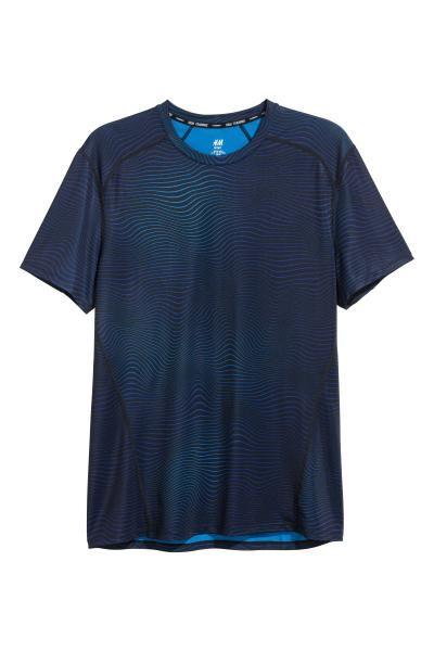 Sportshirt met korte mouwen - Blauw - HEREN   H&M NL 2