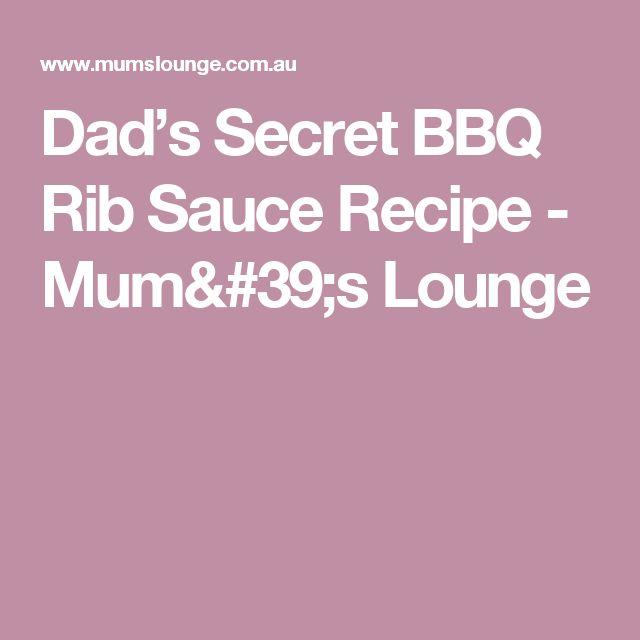 Dad's Secret BBQ Rib Sauce Recipe - Mum's Lounge