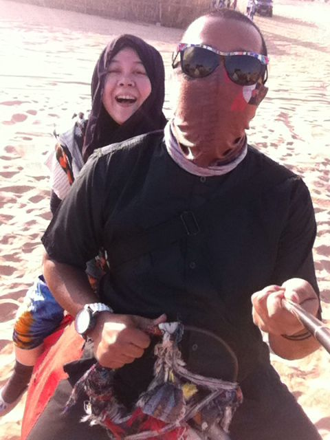 Camel ride, let's do it again!! With our little family someday..