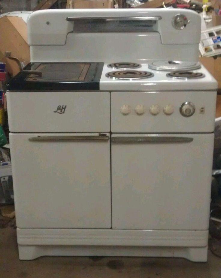 Vintage Electric Kitchen Stoves ~ L h wood burning electric cook stove vintage antique