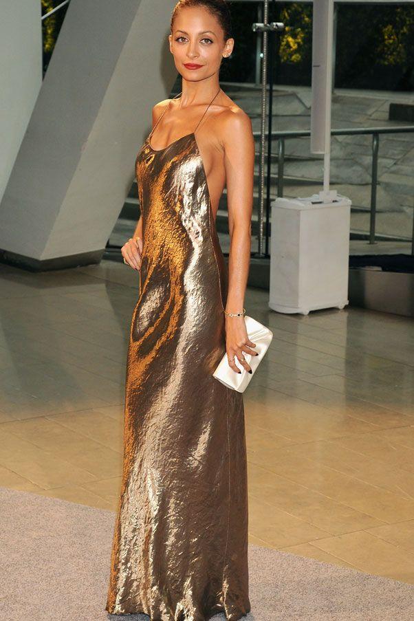 Nicole richie gold sequin dress