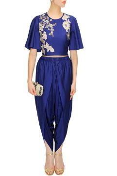 Dhoti Pants with Crop top - Sonali Gupta - What to wear to an Indian Wedding