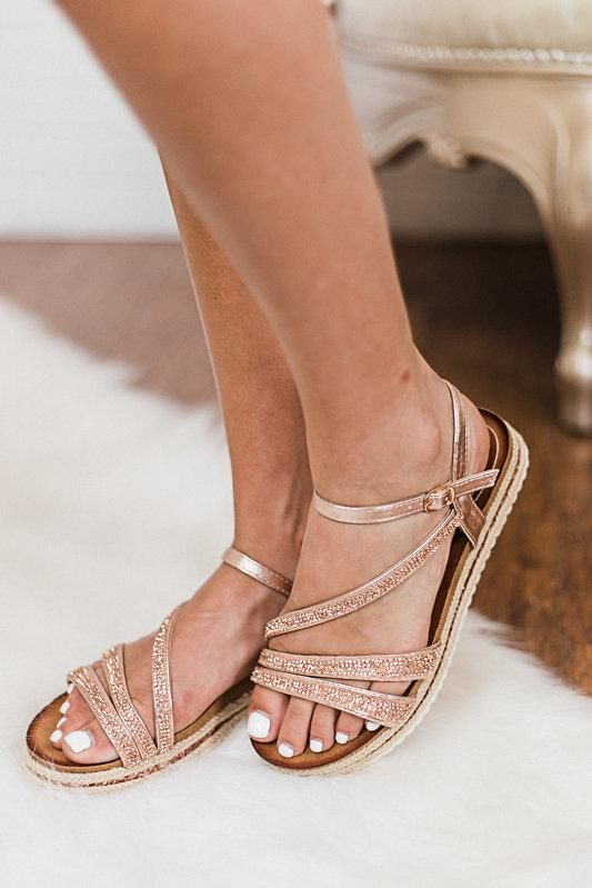 762238c2bf Champagne colored strappy flat sandal shoes | ~Sassy Shoes ! | Shoes ...