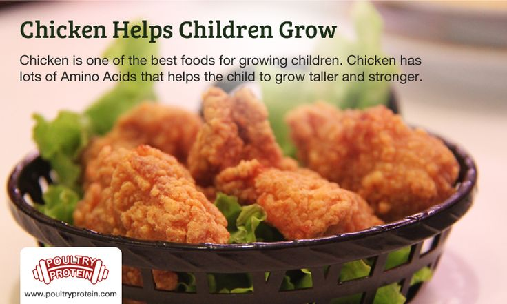 Child to grow taller and stronger??  If you really want your children to be healthy and tall. Always keep your children active so that the food eaten is absorbed into their body. Chicken is best food for children. Chicken has lots of amino acids that helps the child to grow taller and stronger...