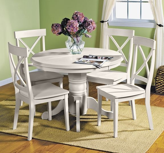 this white dining table is cute simple and perfect for a shabby chic look - Dining Room Sets Value City Furniture