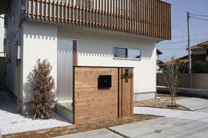 天然木機能門柱