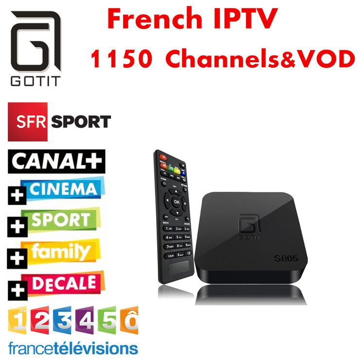 France IPTV GOTiT S805 Android TV Box NeoTV QHDTV Europe Belgian Dutch IPTV Arabic African Islamic Turkish Kurdish SKY IT UK DE