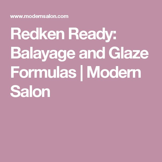 redken ready balayage and glaze formulas modern salon - Coloration Redken Nuancier