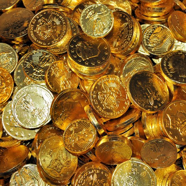 Gold Chocolate Coins Assorted Sizes- 1lb from Madelaine ChocolatesThese highly detailed, solid premium milk chocolate gold coins are wrapped in Italian foil and are perfect for any occasion. Whether you use these for pirate loot, party favors,...