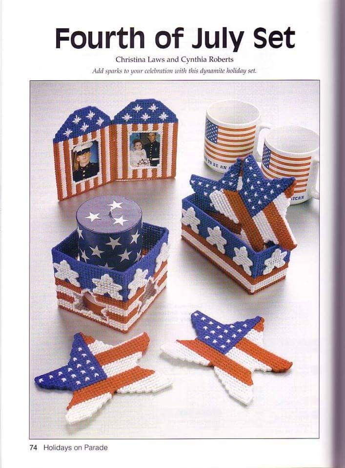 Happy Independence Day-Uncle Sam-Patriotic-Plastic Canvas Pattern or Kit