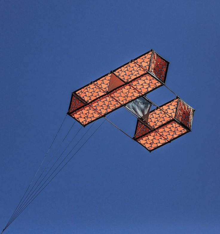 A striking Hargrave box kite. May they be built and flown forever... T,P. (my-best-kite.com)