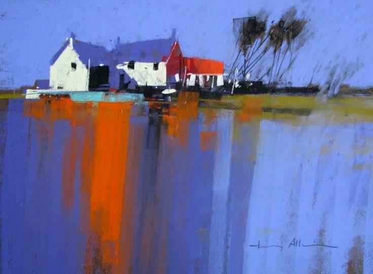 landscape art by Tony Allain (UK) pastel