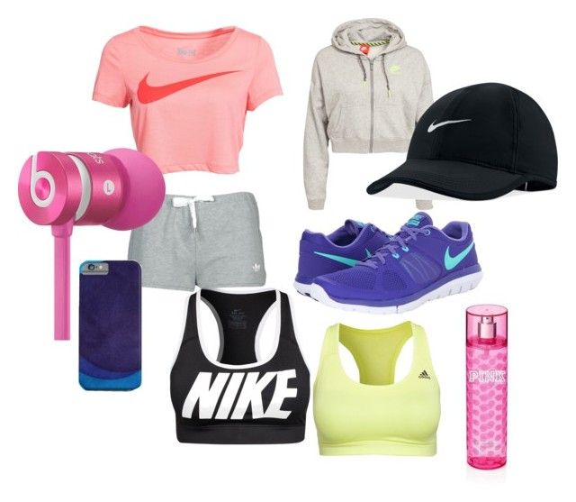 """""""rusn fast"""" by camillastefan1 on Polyvore featuring moda, NIKE, adidas, Beats by Dr. Dre, Victoria's Secret e vintage"""