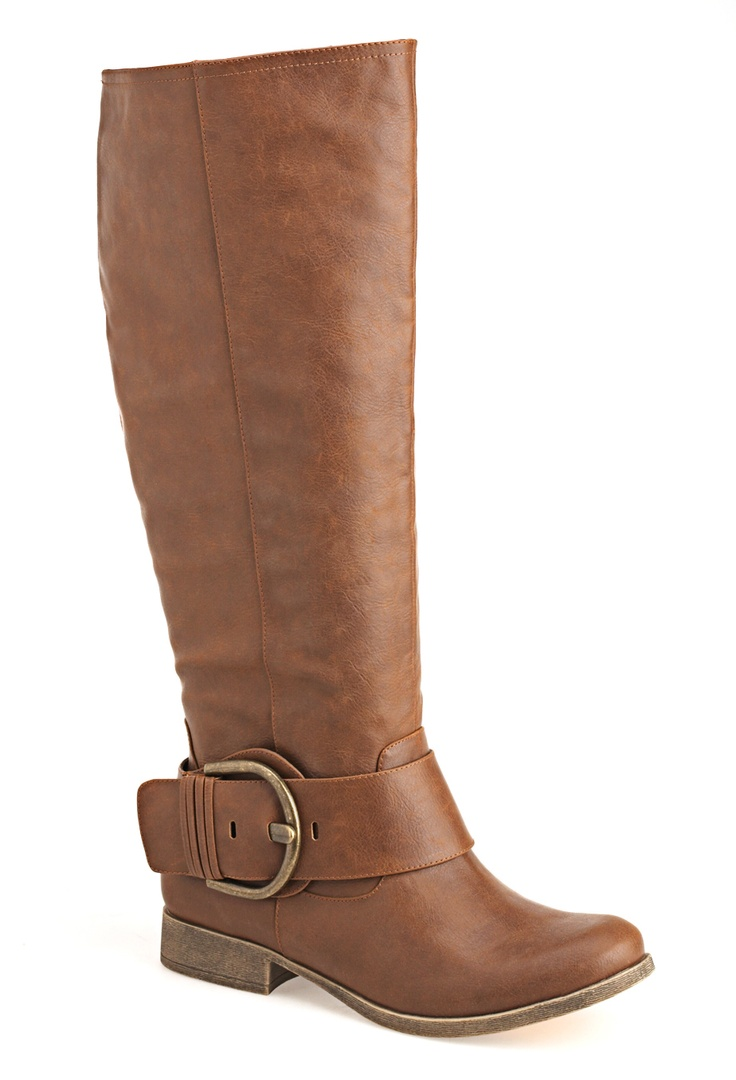 Plus Size Madge Tall Buckle Riding Boot