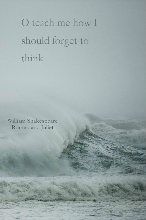 O teach me how I should forget to think~William Shakespeare, Romeo and Juliet.  Click on this image to see the biggest collection of famous quotes on the net!