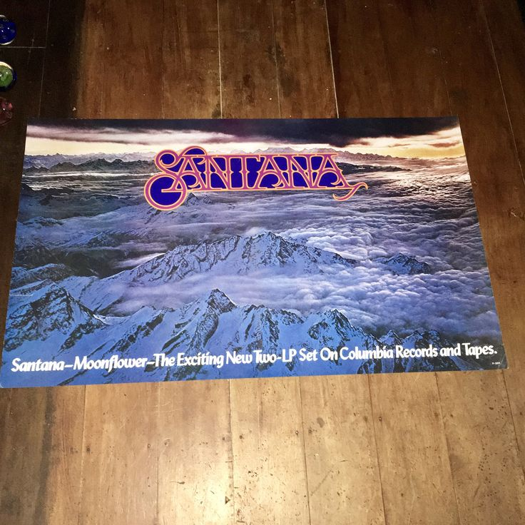 Santana Moonflower 1977 Columbia Records & Tapes Original Rare Vintage Music Poster by RockPostersTreasures on Etsy