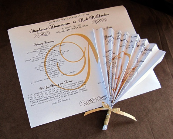 Folded Fan Wedding by scrappinginnovations on Etsy.com