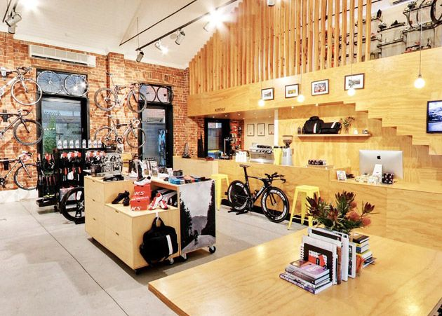 The stunning Bike Gallery store in Melbourne. If I lived there, this would be a very regular hangout...