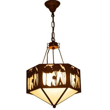 Enhance Your Rustic Style Or Cabin Log Home Decor With This Tree And Caveman Pendant Light