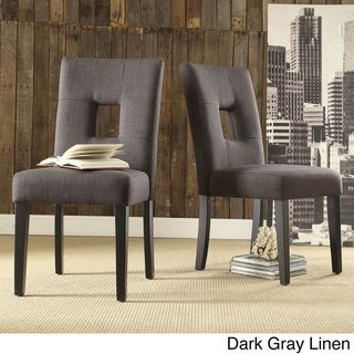 TRIBECCA HOME Mendoza Keyhole Back Dining Chairs (Set Of 2) | Overstock™  Shopping