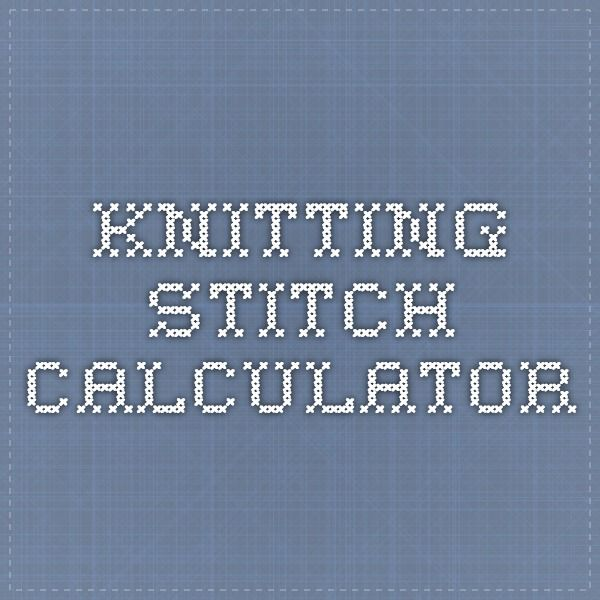 Knitting Calculators : Knitting stitch calculator reference book dictionary
