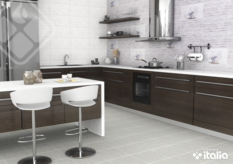 ¡Apuéstale a los decorados! diseña tu cocina con nuestros productos ideales para crear un espacio moderno y a la vez delicado. #DiseñosDeCocinas #EstilosCocinas #CerámicaItalia